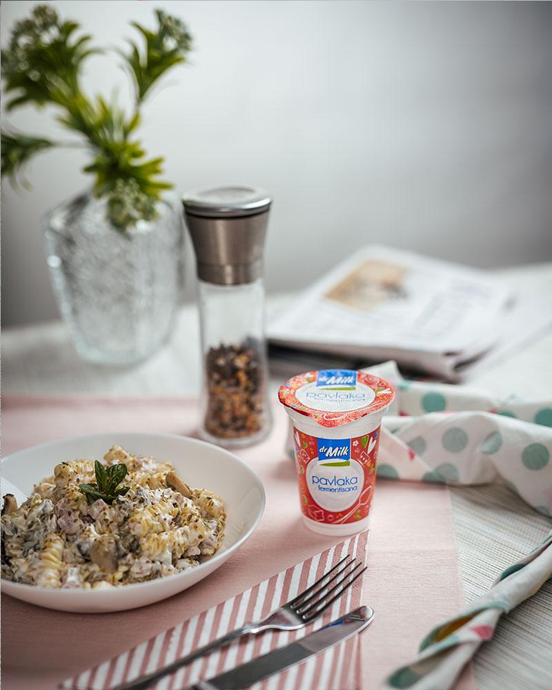Recept za salatu sa dr Milk pavlakom i šampinjonima